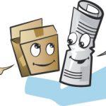 oud papier container